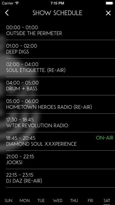 AB+L Radio Schedule